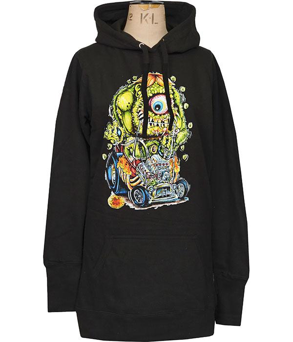 womens lowbrow monster hoodie