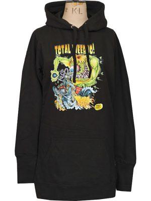 womens lowbrow hotrod hoodie